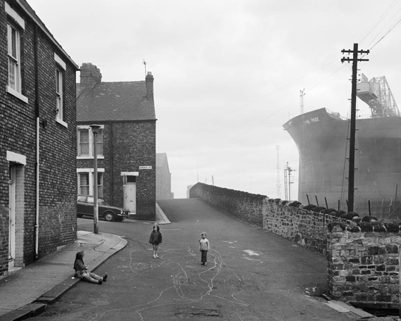 Chris Killip: Housing and Shipyard, Wallsend, Tyneside, 1975