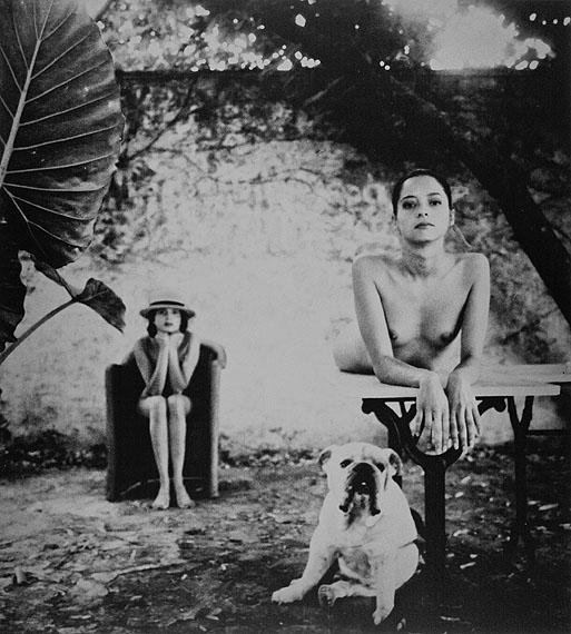 Karin Székessy: Leo avec Pascale et Sandrine, 50 x 70 cm, 1985
