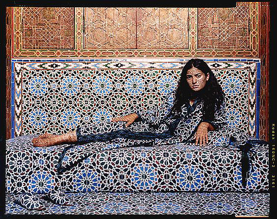 Harem #2, 2009 © Lalla Essaydi/Courtesy Edwynn Houk Gallery, New York.