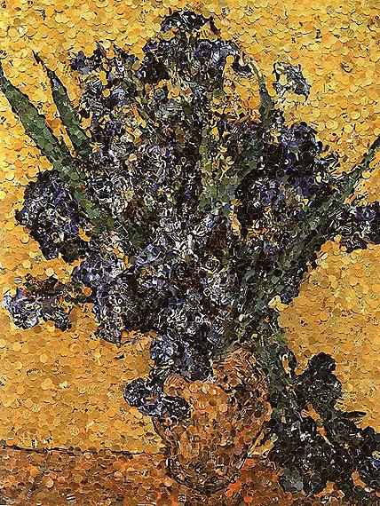 Irises, 2004, From Pictures of Magazines, @ Vik Muniz