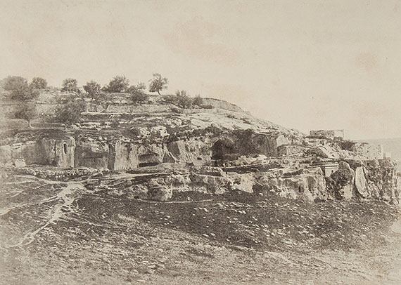 Auguste Salzmann (1824-1872) Jerusalem, 1854 Blanquart-Evrard process print, titled, and inscribed in the margin,