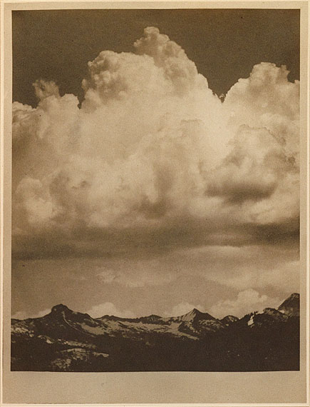 Lot 56:Alvin Langdon Coburn, The Cloud, with poem by Percy Bysshe Shelley, signed, Los Angeles, 1912. Estimate $25,000 to $35,000.