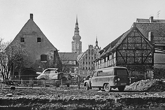 Robert Conrad: Greifswald, Blick von der Fleischer- zur Baderstraße (1987)