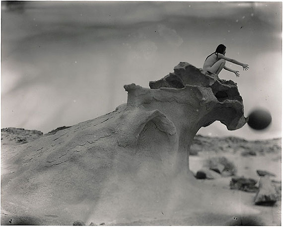 Falling Ball with Freezing Wave, Inner Mongolia (2009) Silver Gelatin Print. 33cm x 41cm – Edition of 10; 98cm x 124.5cm – Edition of 5