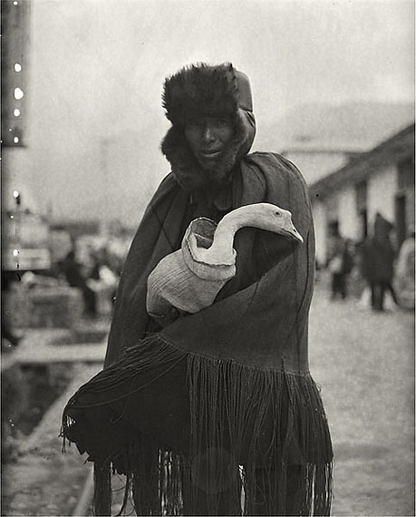 Man Clutching Goose (2006) Silver Gelatin Print. 61 x 50.8cm – Edition of 20; 130cm x 106cm – Edition of 8