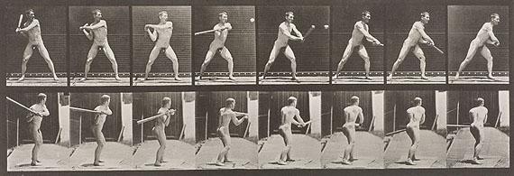Muybridge: Mann bei Schlag 1885