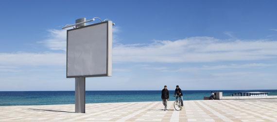 Gudrun Kemsa: La Corniche 2, 2009, 86 x 198 cm, C-Print Diasec