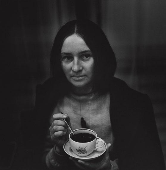 Antanas Sutkus: Portrait with cofee, Gelatin Silver print