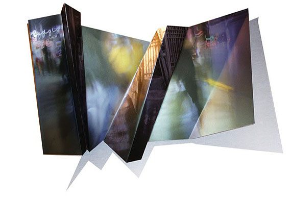 Tillmann Krieg: Korean Diary / Urban Structure - 2011 - Photography / Painting / folded and cut Aluminium, ca. 100 x 69 x 25 cm