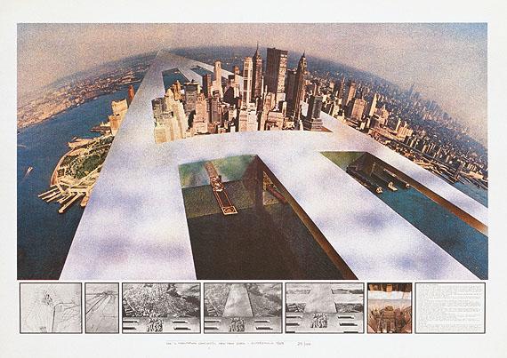 SuperstudioNew New YorkAus Il monumento continuo, 1969Siebdruck, 70,3 x 100 cmNeue Galerie, Graz© Superstudio