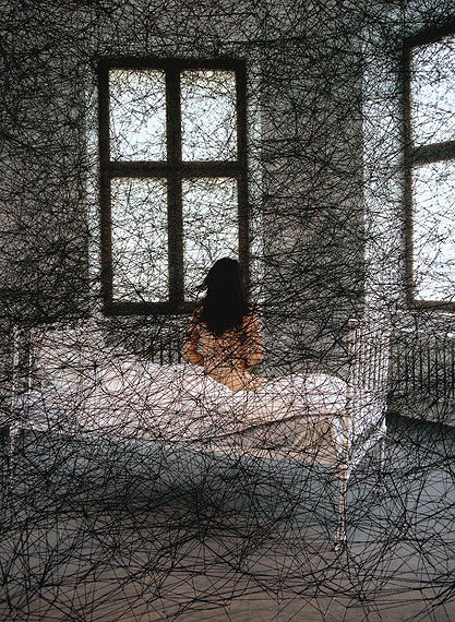 Chiharu Shiota During Sleep, 2002120 x 80 cmC-printEd. 5 +2 AP
