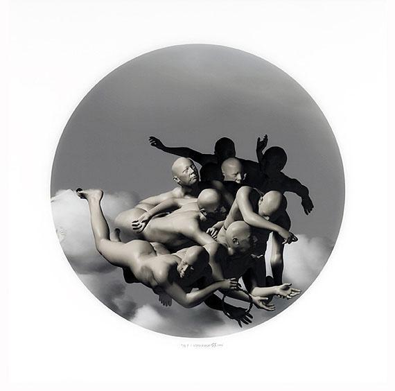 """Miao Xiaochun: """"F-1"""", 2006, Diasec, Ed. 4/18, 78x78 cm"""