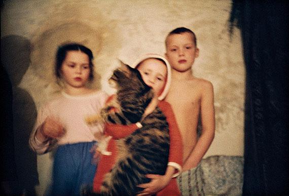 Bernd Borchardt: Burg Goldbeck, Anna, Rea mit Milti und Jakob, 27.10.1989