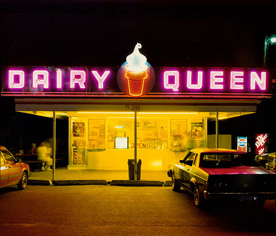 Dairy Queen at Night © Jim Dow