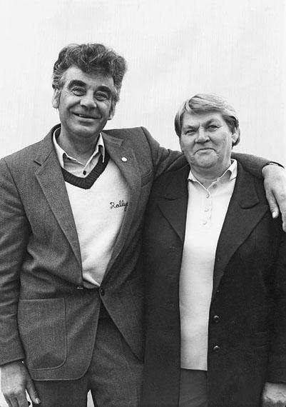 Frank-Heinrich Müller: Leipzig, Menschen im Park, 25.10.1989