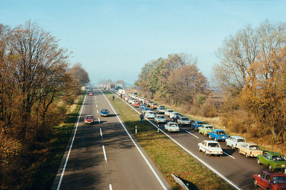 Günter Heinrich Müller: Ebendorf bei Magdeburg, BAB 2, 11.11.1989