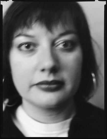 Werner Lieberknecht: Dresden, Portrait im Atelier: Deborah aus London, 19.12.1989