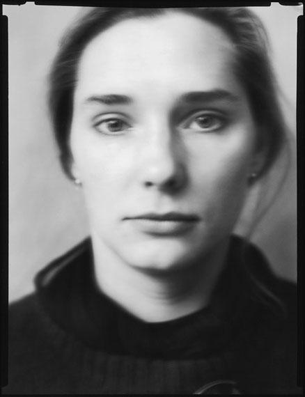 Werner Lieberknecht: Dresden, Portrait im Atelier: Anette, 05.09.1989