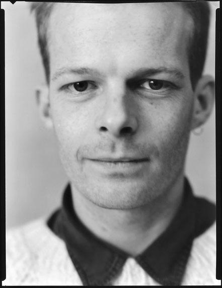 Werner Lieberknecht: Dresden, Portrait im Atelier: Rob aus London, 19.12.1989