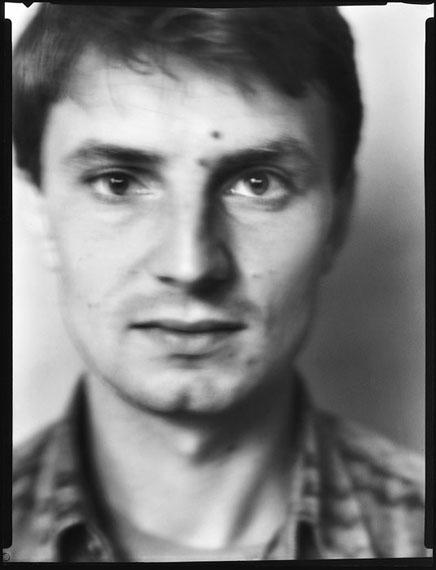Werner Lieberknecht: Dresden, Portrait im Atelier: Falk, Tag vor der Ausreise, 03.09.1989