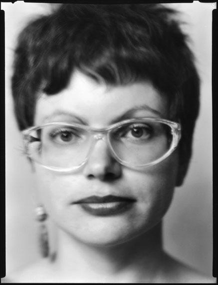 Werner Lieberknecht: Dresden, Portrait im Atelier: Eva aus Westberlin, 19.12.1989