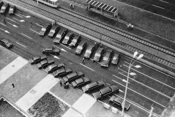 Wiebke Loeper: Berlin, Mollstraße 31, Staatskarosse, 07.10.1989