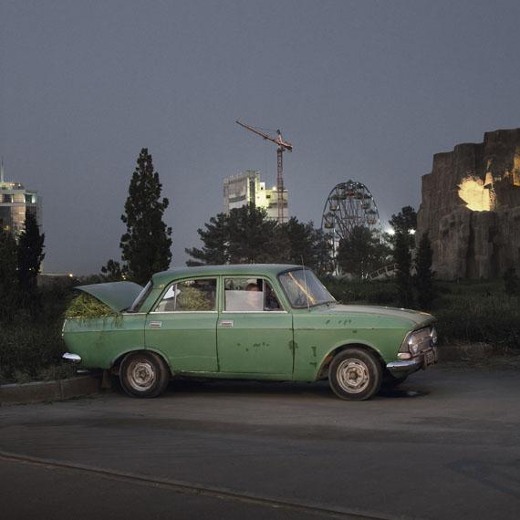 Ruslan's car, Turkmenbashi's World of Fairy Tales, Turkmenistanphoto: Anoek Steketee