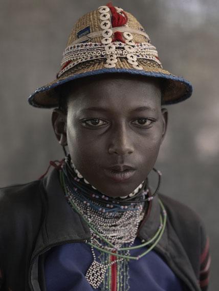 Mere Adamou, 14 years old, Daoura, Peuhl Festival, Péhunco, Benin, 2011 , © Albert Watson