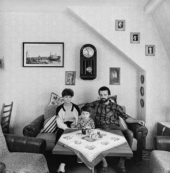 Günter Starke: Dresden-Neustadt, Sebnitzer Straße, Familie H., 12.09.1989