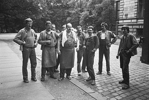 Helfried Strauß: Leipzig, Gruppenbild unserer Umzugs-Crew der Fa.Gebauer, 20.09.1989