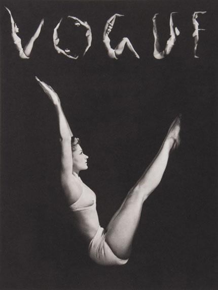 Horst P HorstV.O.G.U.E. N.Y., 1940Platinum print, signed in pencil in the margin,( £4,000-£6,000)