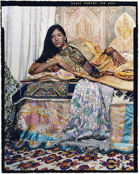 Harem Revisited #33, 2012 © Lalla Essaydi, Courtesy Edwynn Houk Gallery