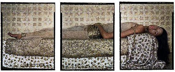 Bullets Revisited #3, 2012© Lalla Essaydi, Courtesy Edwynn Houk Gallery