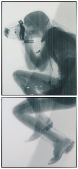 Jürgen Klauke, Toter Photograph, 1988Photo-work in 2 parts, printed 1993. Total size 263.5 x 119 cmEstimate € 14,000 – 18,000