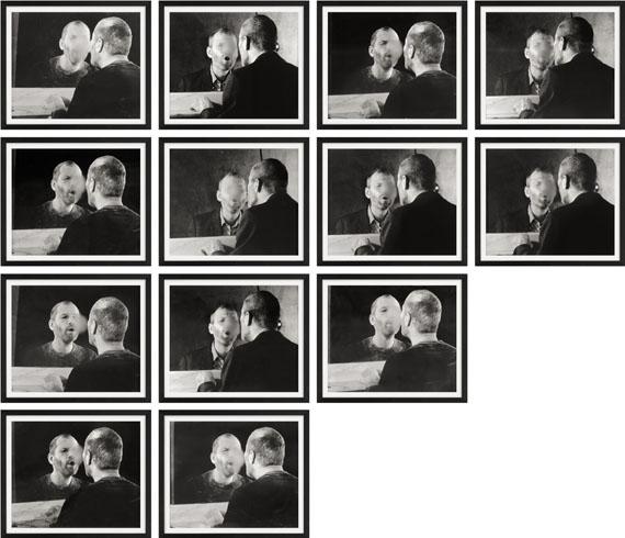 """Dieter Appelt""""DER FLECK AUF DEM SPIEGEL, DEN DER ATEMHAUCH SCHAFFT"""". 197713 Silbergelatineabzüge.Unikate Ausführung.Je ca. 18,9 x 22,8 cm(Je ca. 21,2 x 26,2 cm)"""