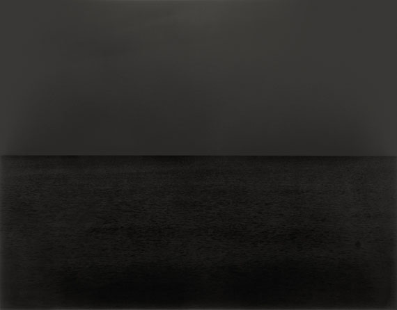 """Hiroshi Sugimoto""""BALTIC SEA, RUGEN"""". 1996Gelatin silver print. 16 5/8 x 21 1/4 in. (18 5/8 x 22 3/4 in.))One of 25 editioned prints."""