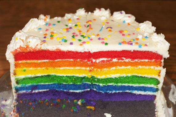 Rainbow cake. USA. Atlanta. 2010 © Martin Parr / Magnum Photos