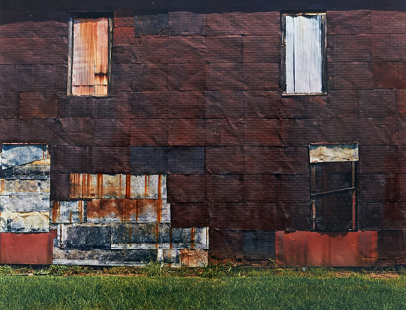 William Christenberry Façade of Cotton Warehouse—Newbern, Alabama, 1978 from the portfolio Ten Southern Images Vintage dye transfer print 50.8 x 60.96 cm / 20 x 24 in. ©William Christenberry, courtesy of Feroz Galerie