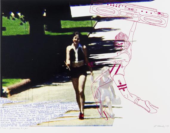 Natascha Stellmach: I have a ghettoblaster & a pen, 2013archival ink & pen on photo paper, 68 x 86 cm, unique piece