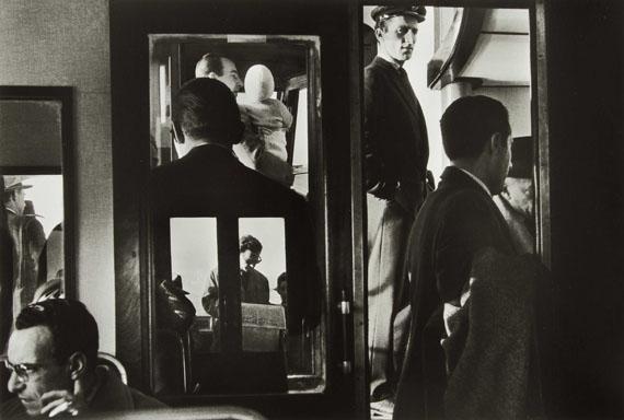 72. Gianni Berengo Gardin (*1930)In vaporetto, 1960.Gelatin silver print, signed.