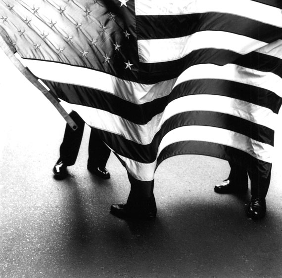 Flag parade, New York City, 1987 © Bastienne Schmidt