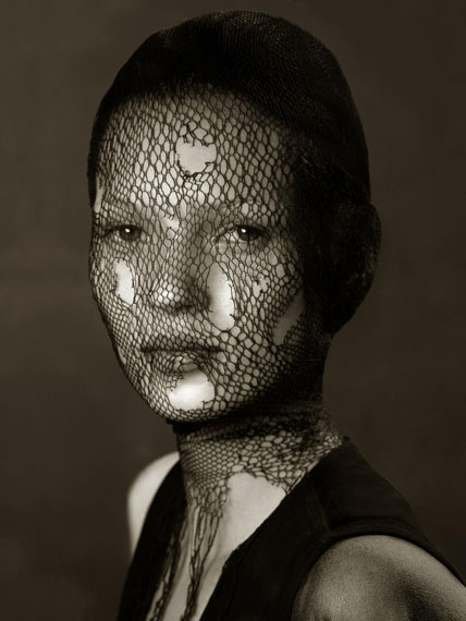 Kate Moss (Veil), Marrakech, 1993Archival pigment print 60,9 x 76,2 cm (24 x 30 in.) Edition of 25