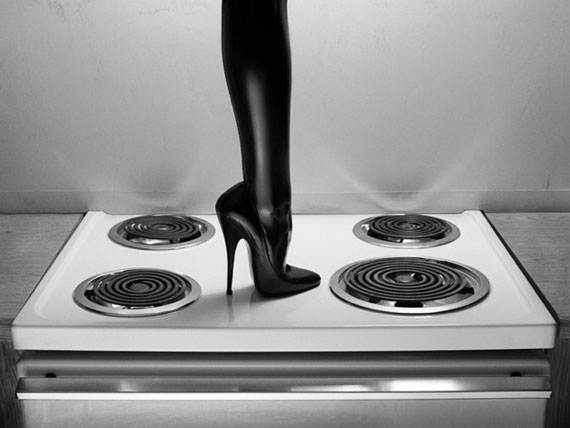Heel on Stovetop, Budget Suites, Las Vegas, 2000