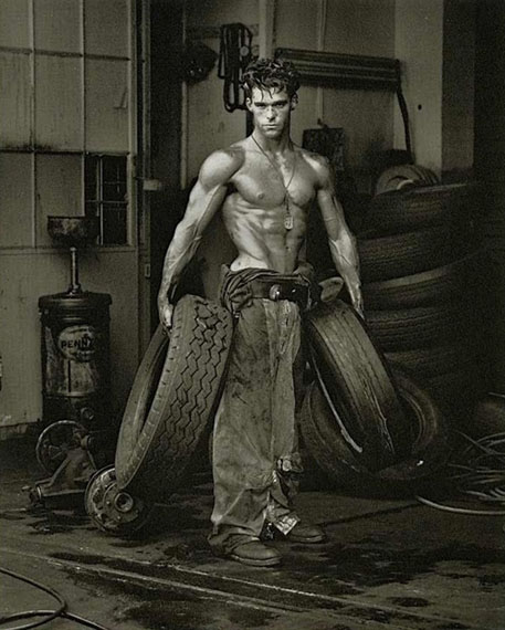 Herb RittsFred with Tires, Hollywood, 1984Gelatin silver print24 x 20 in.Ed. 9/30Est. US$20,000-30,000
