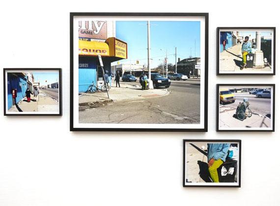 "Installation view: ""Ford Street # 5782"", 2012, C-Print  5-teilig, 60 x 70 cm und 29,2 x 24 cm"
