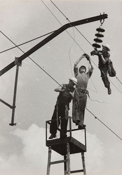 O.A. Lander. Electrification of the road from Rostov to Ilovayskaya. May, 1961