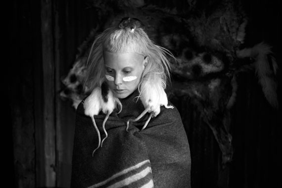 Roger Ballen, Yolandi and Rats from Die Antwoord, 2012, archival pigment print, 21 x 31cm, edition of 50