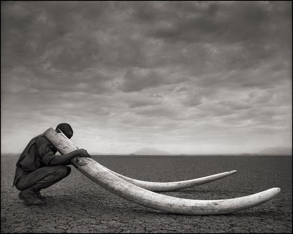 Ranger with Tusks of Killed Elephant · Amboseli · 2011 © Nick Brandt