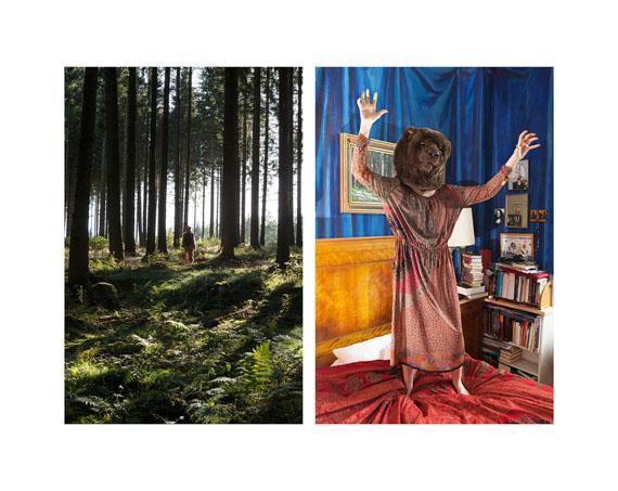 """Aus der Serie """"Bärenmädchen"""", Bärenmädchen im Wald / Bärenmädchen im Schlafzimmer"""