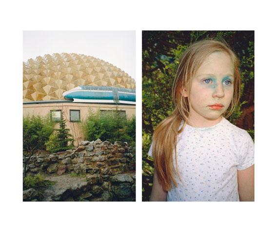 """Aus der Serie """"Small Silent City"""", Magnetbahn / Mädchen mit blauen Augen"""